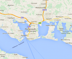 map of driving lessons portsmouth