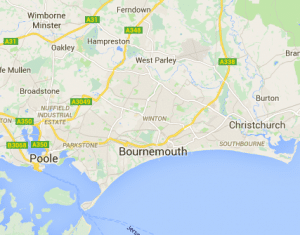 map of driving lessons bournemouth