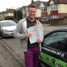 dave getting a driving lessons in southampton